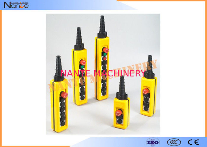 IP65 Industrial Remote Pendant Control Stations Plastic For Crane