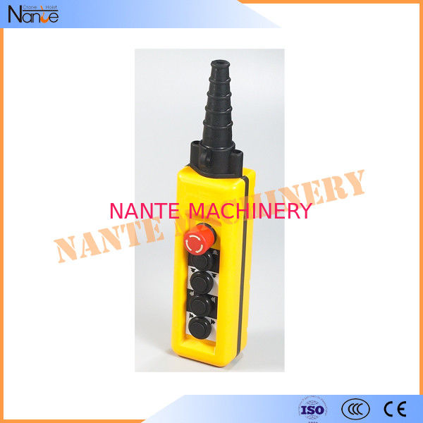 Yellow / Black ABS Waterproof IP65 Hoist Pendant Control Crane Remote Control